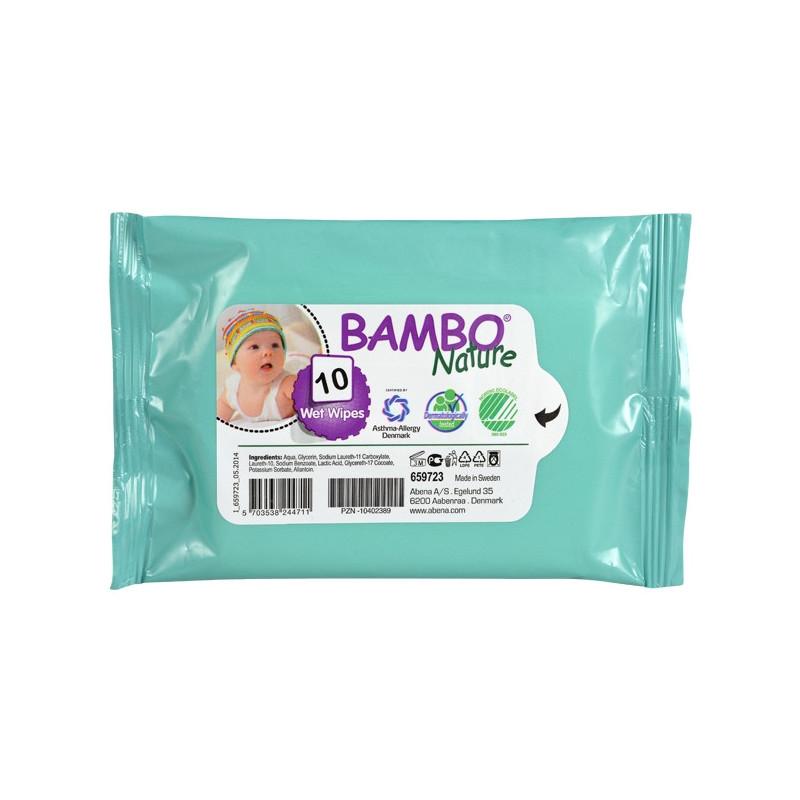 Bambo Nature vlhčené ubrousky, 10ks