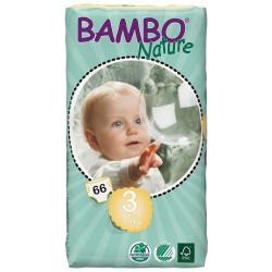 Bambo Nature 3 Midi 5-9kg, 66ks (dvojité balení)