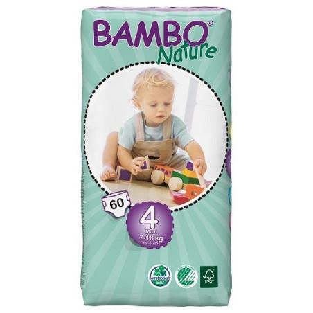 Bambo Nature 4 Maxi 7-18kg, 60ks (dvojité balení)