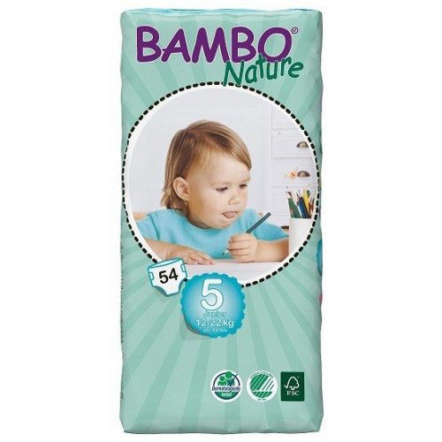 Bambo Nature 5 Junior 12-22kg, 54ks (dvojité balení)