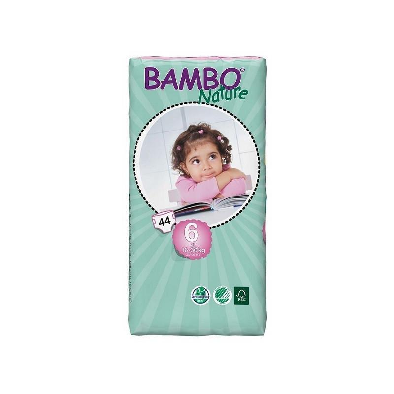 Bambo Nature 6 XL 16-30kg, 44ks (dvojité balení)