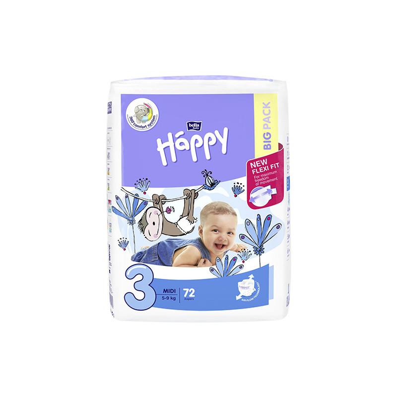 Bella Happy 3 Midi 5-9 kg 72 ks