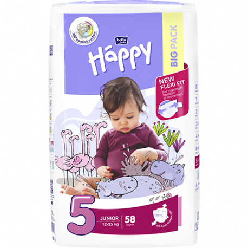 Bella Happy 5 Junior 12-25 kg 58 ks