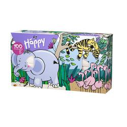 Bella Happy tahací kapesníky 100 ks, vzor slon