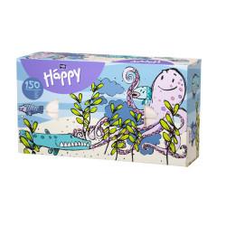 Bella Happy tahací kapesníky 150 ks, vzor chobotnice
