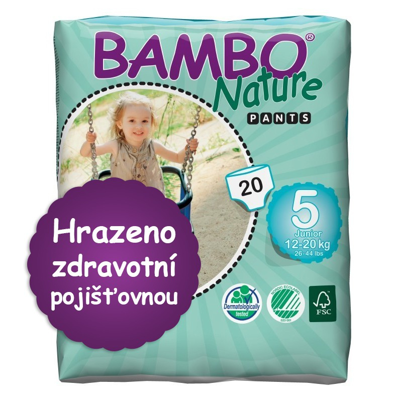 ABENA A.S. BAMBO Nature Pants Junior navl.plen.k.trénink 20ks