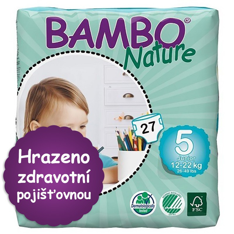 ABENA A.S. BAMBO Nature Junior plen.k. 12-22kg 27ks